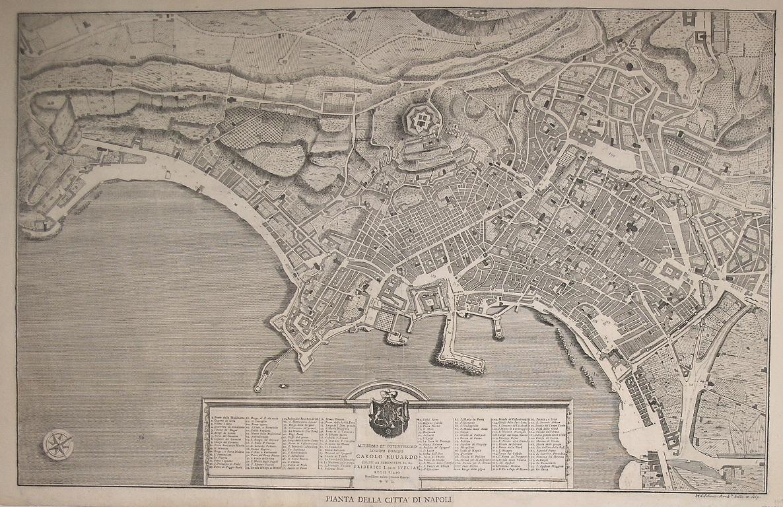 Pianta-della-Città-di-Napoli-Giovanni-GRAVIER-Editore-Napoli-1750