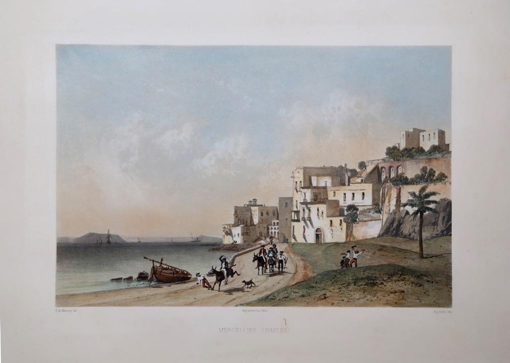 Mergelline-Naples-Eugene-CICERI-Editore-Parigi-1845