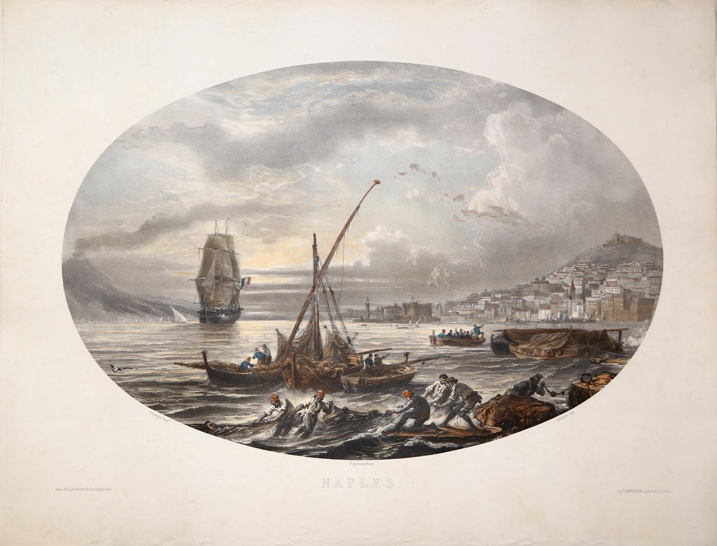 Naples-LEMERCIER-editore-Editore-Parigi-1870